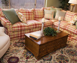 Cozy living room sofa couch and coffee table poster