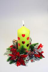 saint valentine's day candle