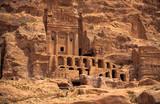 petra ruins poster