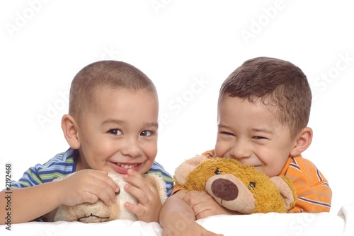 children and teddy bears