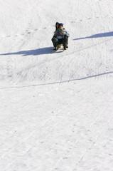 winter sledding