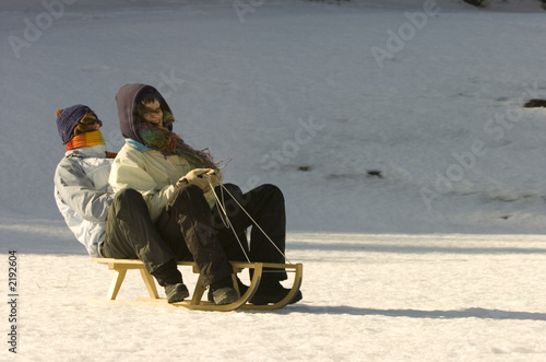 winter sledding