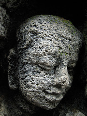 tiny face at borobodur