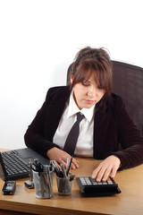businesswoman at desk #16