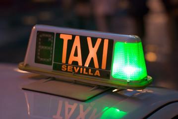 taxi schild sign