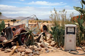 epave de voiture en namibie
