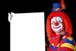 clown with copy space