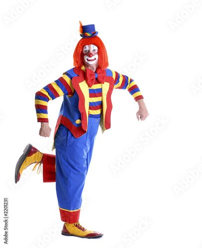 dancing circus clown