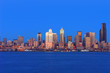 canvas print picture seattle skyline