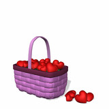 basket full of hearts poster