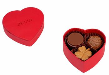 valentine chocolate box