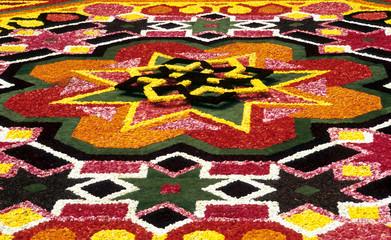 flower carpet detail