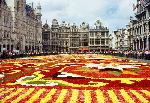 Fototapeta flower carpet in grande place