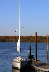 sail boat docked