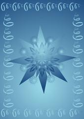 snow flakes riibon