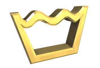 simbolo lavaggio in oro - washing symbol