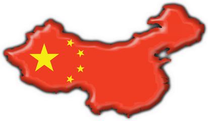 bottone cartina cinese - china button map flag