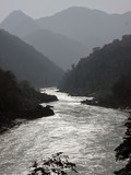 river ganges in the himalayas in india poster