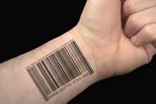 Kod kreskowy tatuaż.