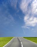 wide blue sky road poster