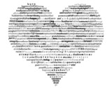 life words heart poster