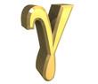 simbolo gamma in oro