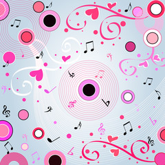 musical valentine design