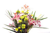 beautiful flower arrangement isolated on white poster