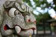 stone oriental tiger head