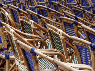 wooden chairs in saint emilion