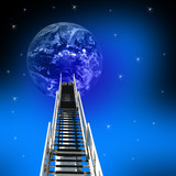 ladder up to the earth poster