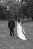 walk hold holding hand hands bride groom bw poster