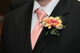 tux, flower, tie, shirt poster