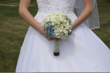 front wedding gown dress with flowers poster
