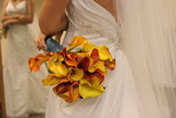 wedding dress gown white flower yellow cali lilly poster