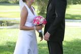 bride groom white black flower tux dress poster