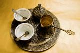 antique turkish coffee set poster