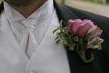 tux black white boutinerre pink tie vest jacket poster