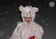 kind verkleidet als schweinch