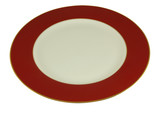 red empty plate poster
