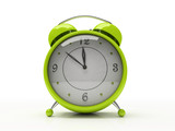 Fototapety green alarm clock isolated on white background 3d