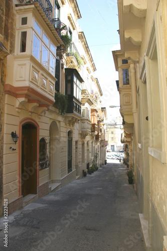 poster of maltese street - vittoriosa
