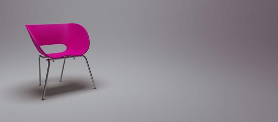 chaise rose fleur