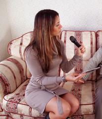female interviewer