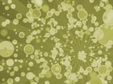 bubble radiate yellow poster