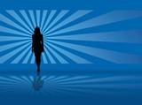 radiate model blue poster