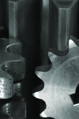 close-up machinery