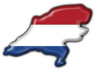 bottone cartina olandese - holland button map flag