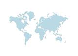 weltkarte 2 - map of world 2 poster