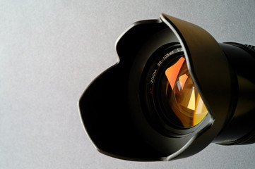 zoom camera lens closeup